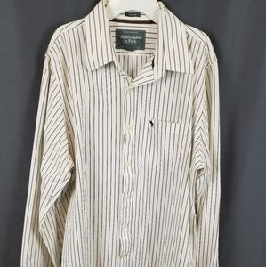 Abercrombie and Fitch mens button down shirt xxl